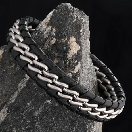 Men's Leather Patriot Bracelet