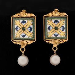 Amalfi Majolica Tiles Earrings