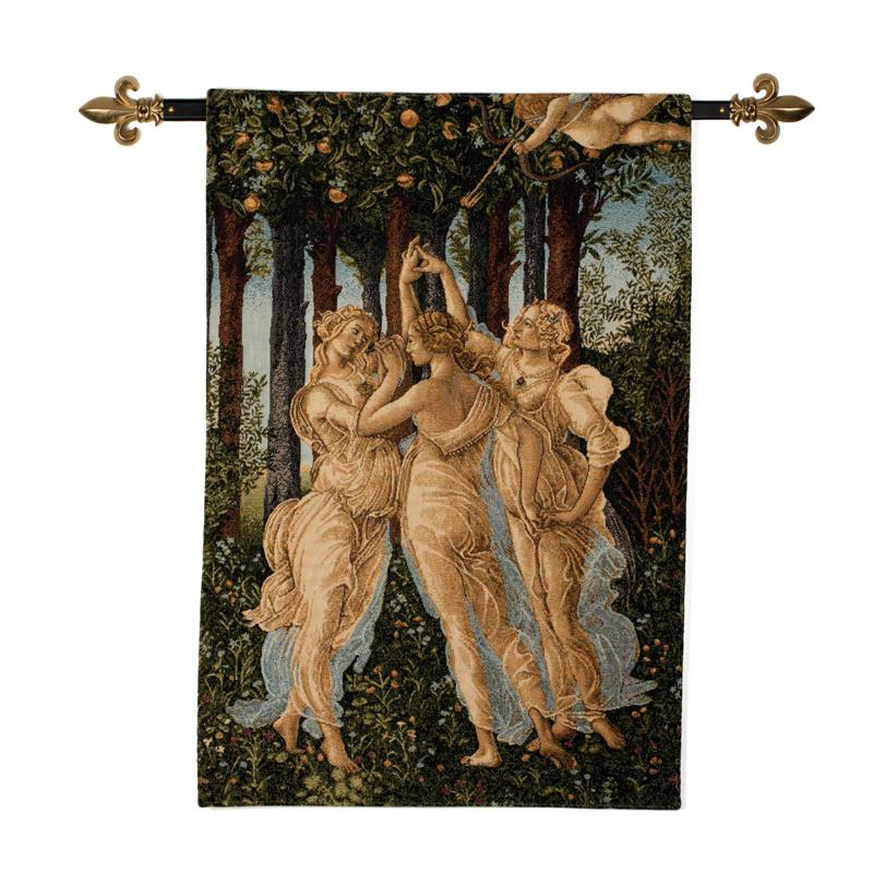 Three Graces Tapestry with Rod