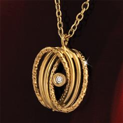 14K Italian Gold Lab-Created Diamond Abraccio Pendant