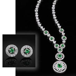Leading Lady DiamondAura Necklace and Earrings