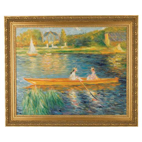 Seine at Asnieres by Pierre-Auguste Renoir