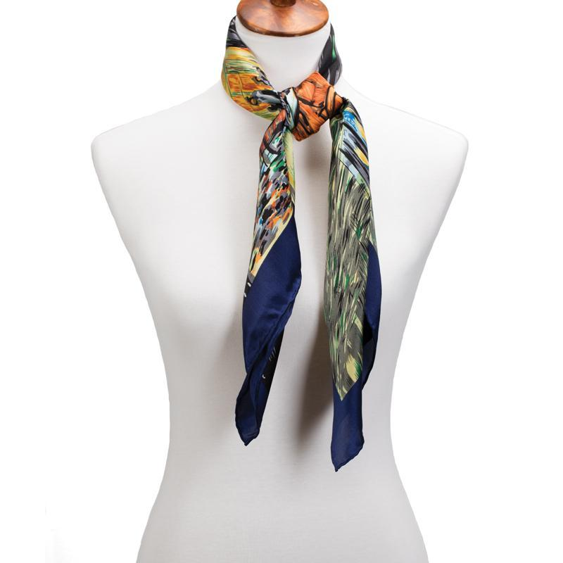 Cafe Terrace at Night Silk Scarf