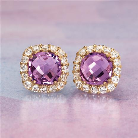 14K YG Vittoria Amethyst Earrings