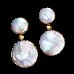 Mother-of-Pearl Lunar Earrings