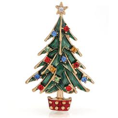 Signs of the Season Christmas Tree Brooch