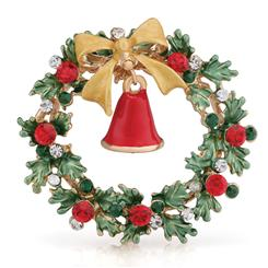 Signs of the Season Wreath Brooch