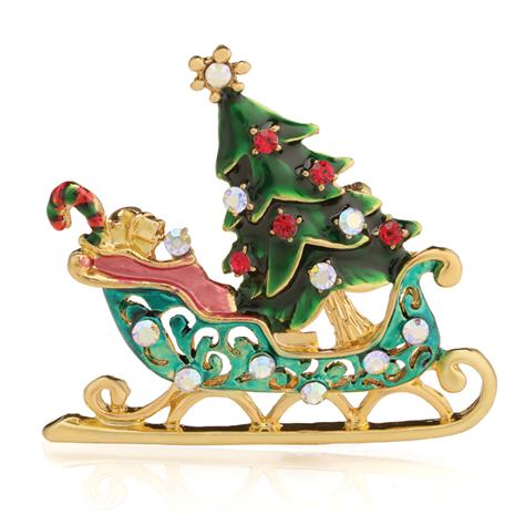 Signs of the Season Sleigh Brooch