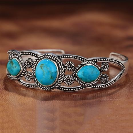 Rain Dance Turquoise Bangle (15 ctw)