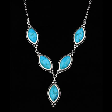 "Rain Dance Turquoise 18"" Necklace (22 ctw)"