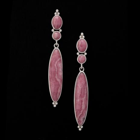 Inca Rose Stone Earrings (16 ctw)