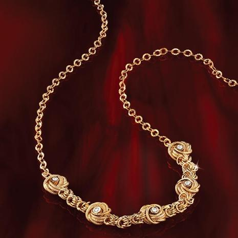 Gold-finished Sterling Silver Nodo D'Amore Necklace