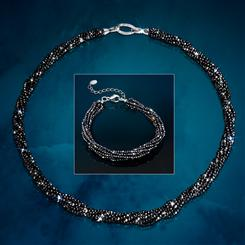 Black Spinel Secret Necklace & Bracelet