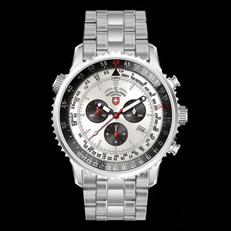 Swiss Military Chronograph - Silver/Stainless