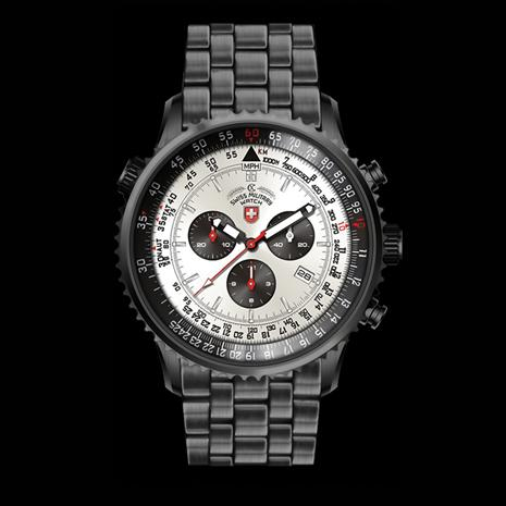 Swiss Military Chronograph - Silver/Black