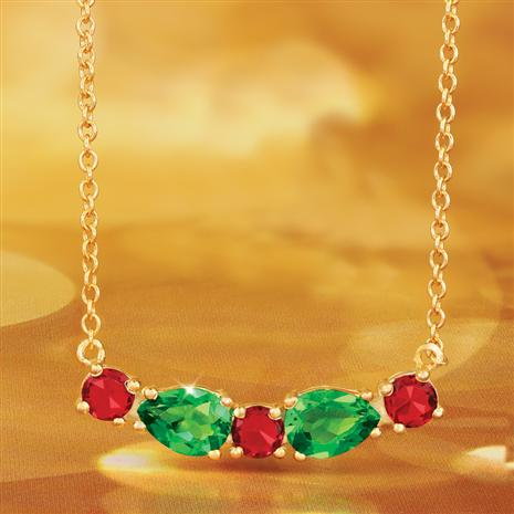 Helenite Holiday Necklace