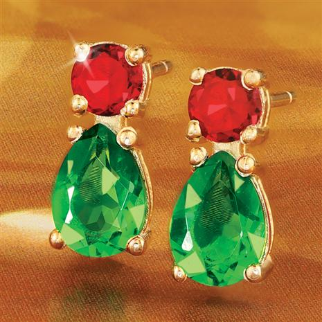 Helenite Holiday Earrings