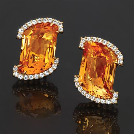 Stauer Cut Citrine Earrings