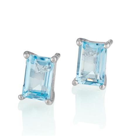 Blue Topaz Skyscraper Earrings
