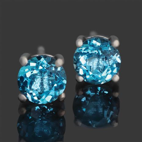 London Blue Topaz Night Sky Stud Earrings