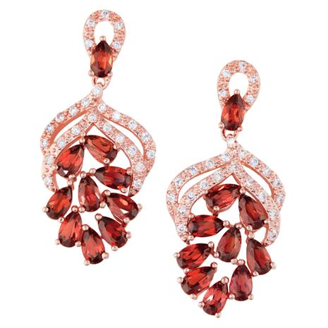 Garnet Forever Earrings
