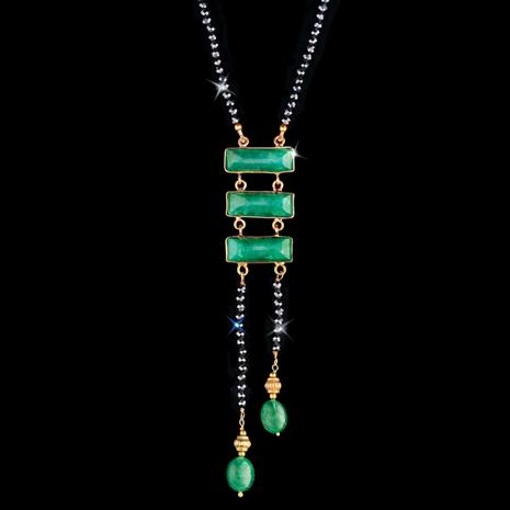 Speakeasy Emerald and Black Spinel Necklace