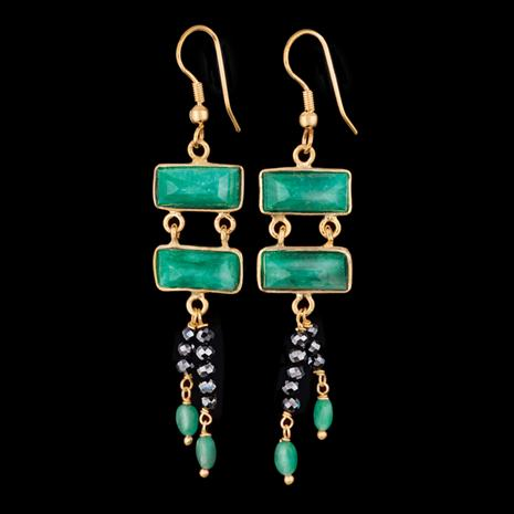 Speakeasy Emerald and Black Spinel Earrings