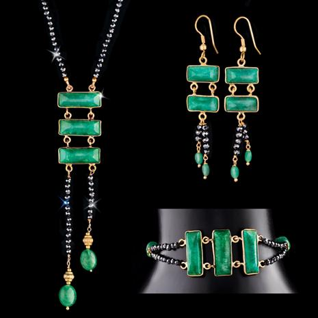 Speakeasy Emerald and Black Spinel Collection