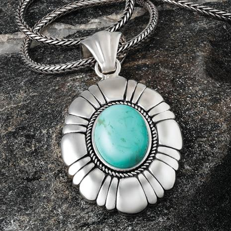 Jewel of the Desert Turquoise Pendant
