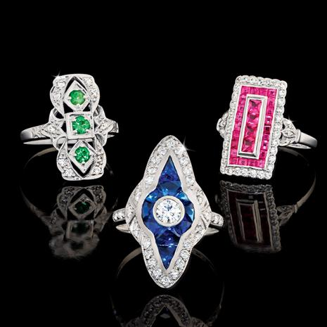 Jazz Age Ring Collection