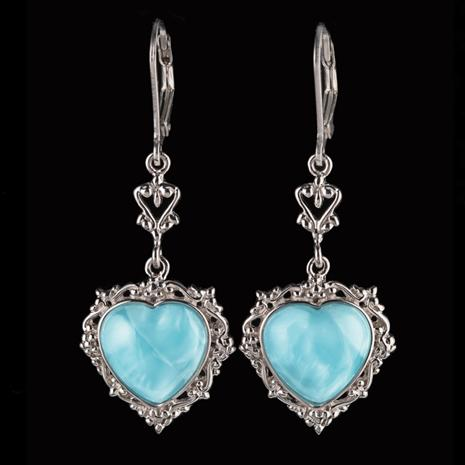 Heart of the Ocean Larimar Earrings