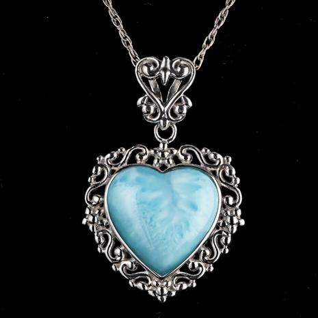 Heart of the Ocean Larimar Pendant