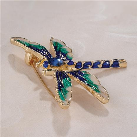 Nouveau Green Dragonfly Brooch