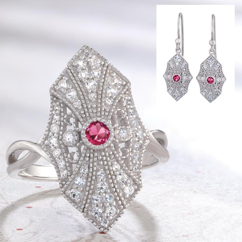Red Emerald Deco Collection