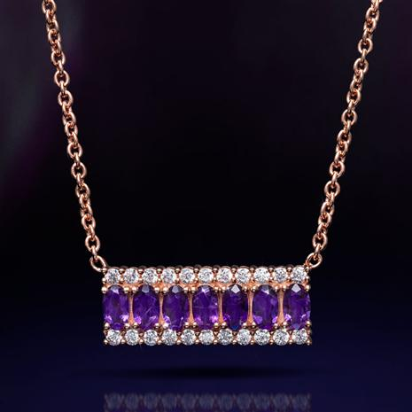 Amethyst Anniversary Necklace