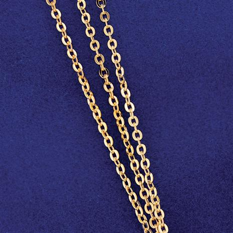 3-Strand Gold-finished Sterling Silver  Cable Chain