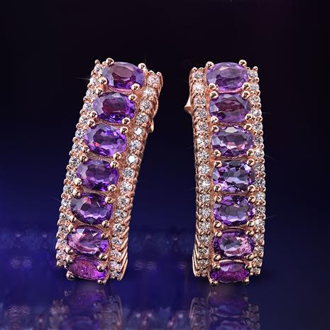 Amethyst Anniversary Earrings