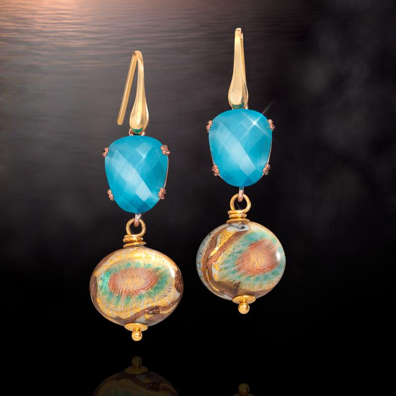 Tramonto Brillante Murano Earrings