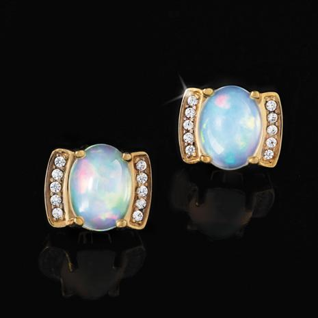 Opal Mood Ring Earrings