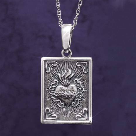 Immaculate Heart of Mary Pendant plus Chain