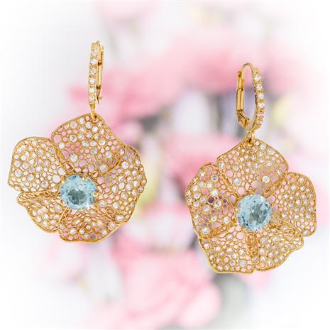Fiore Blue Topaz Earrings