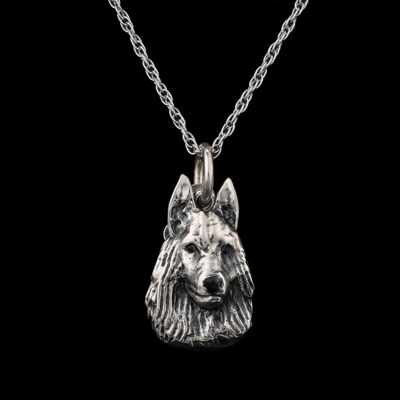 Best Friends German Shepherd Necklace