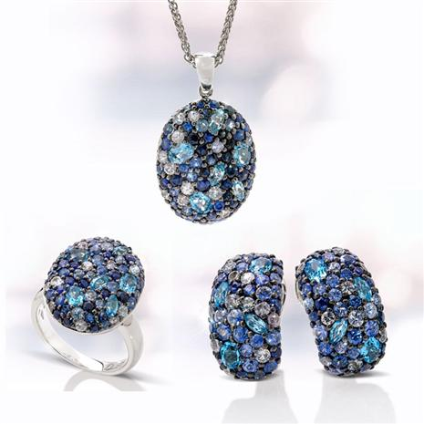 Sterling Silver Sapphire & Blue Topaz Collection