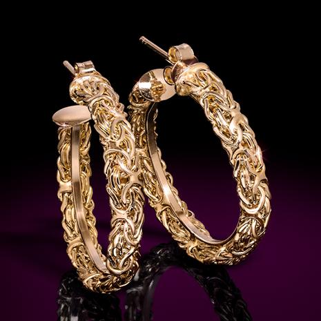 18K Gold-Finished Sterling Silver Aria Earrings