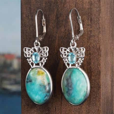 Impressionists Turquoise Earrings