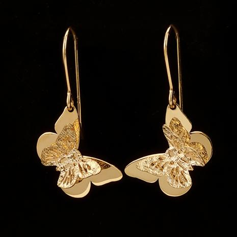 14K Italian Gold Butterfly Earrings