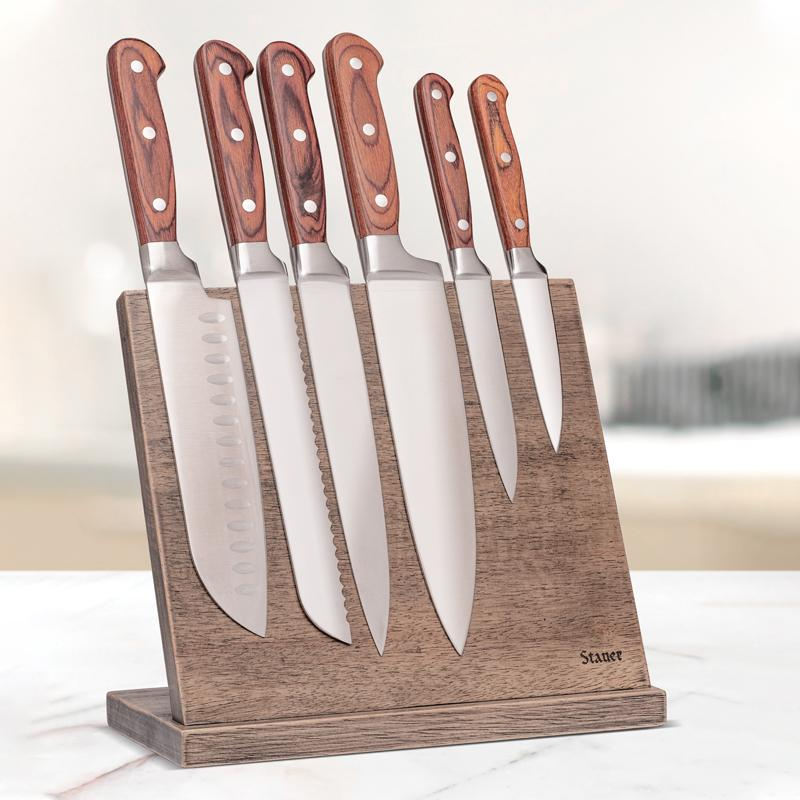 Chef Collection Knife Set with Magnetic Stand