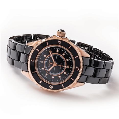 Ladies Classic Black Ceramic Watch