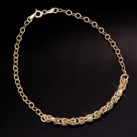 Lustro Bracelet in 18K Italian Gold-finished Sterling Silver