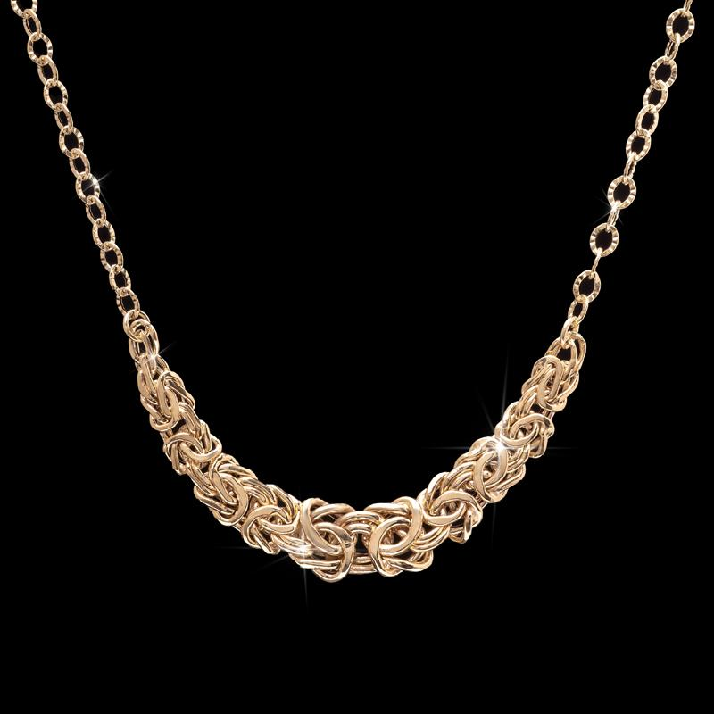 Lustro Necklace in 18K Italian Gold-finished Sterling Silver